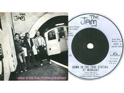 The Jam - Down in the tube station at midnight (On Screen Lyrics)