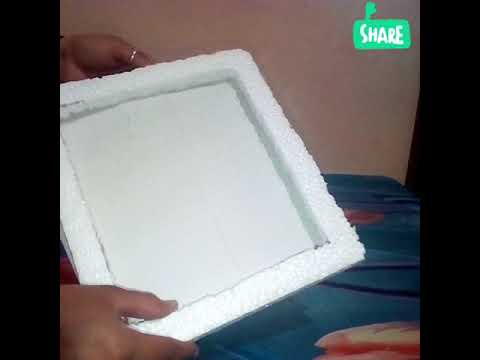 How to make beautiful photo frame from cardboard and thermocol - YouTube