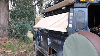 How To Sleep In A Defender 90 Or Short Wheel Base 4x4 (without seats down)