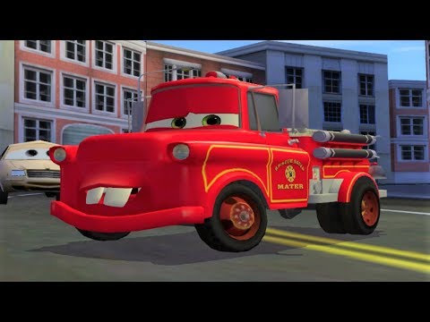 Cars Toon Mater's Tall Tales - Rescue Squad Mater Kids Video Game Movie HD |