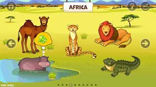 kids play amp learn animal names with sounds  zoo playground animated animals for kids by black fox