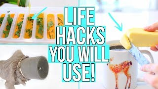 15 LIFE HACKS YOU WILL ACTUALLY USE!