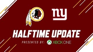 Redskins vs. Giants Halftime Update presented by Microsoft