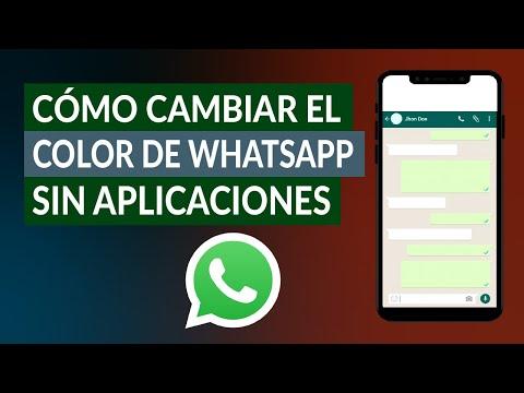 Cómo Cambiar el Color de WhatsApp sin Aplicaciones en Android