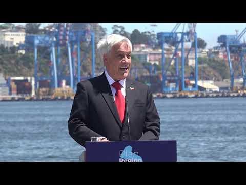 Piñera anuncia licitación internacional para tren rápido Santiago Valparaíso San Antonio
