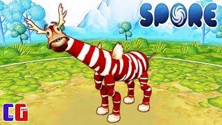 Spore #4 Создал СКАЗОЧНОГО ОЛЕНЯ и ВСТРЕТИЛ ГИГАНТСКОГО ПАУКА Игра про Эволюцию СПОР от Cool GAMES