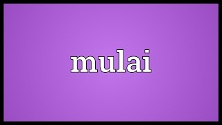 Mulai Meaning