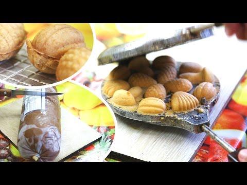 Рецепт видеорецепт печенье орешки и грибочки | печиво грибочки рецепт