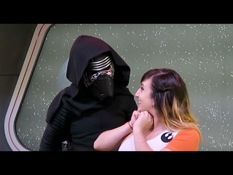 Interactive Kylo Ren meet in the Star Wars Launch Bay at Disneyland