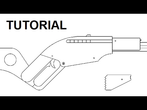 Clip ejecting rubber band gun — $5 plans and tutorial
