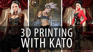 3D Printing a Steampunk Prop Dagger with Queen of Steam Kato on Prusa i3 mk2 3D Printer thumbnail