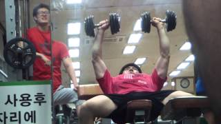 Incline Dumbbell Press 20kg
