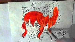 How to draw anime neko/как нарисовать аниме неко