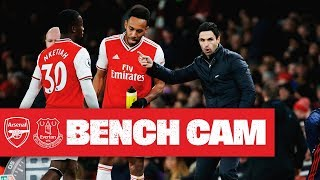 BENCH CAM | Arsenal 3-2 Everton | Premier League | Feb 23, 2020