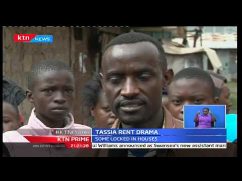 KTN Prime: Residents of a flat in Tassia get locked in their homes as they protest rent increment