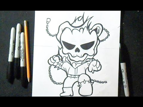 Cómo Dibujar A Ghost Rider How To Draw Ghost Rider Youtube
