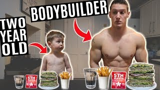 BODYBUILDER vs 2 YEAR OLD | The Ultimate Food Challenge