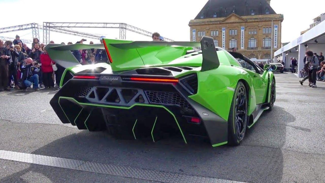 Lamborghini Veneno Roadster Loud Exhaust Sound Start Up Revs And Driving Youtube