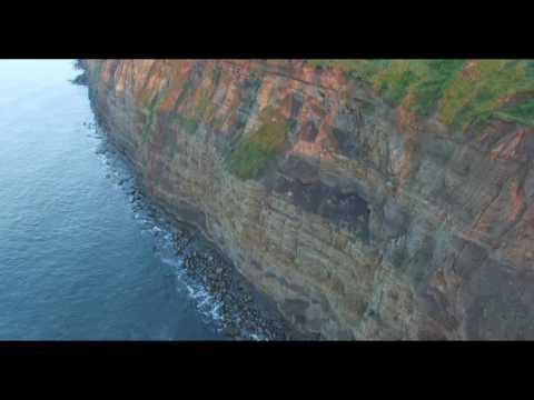 Skinningrove Cliffs Drone Footage