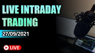 LIVE INTRADAY TRADING   NIFTY BANKNIFTY LIVE   27/09/2021   SA TRADING ZONE