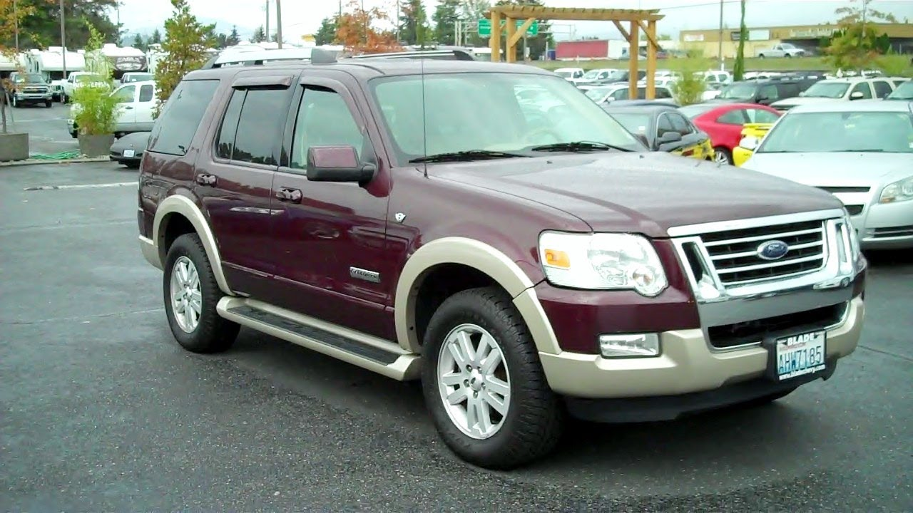 2007 ford explorer eddie bauer 4wd 4 6l v8 24v youtube. Black Bedroom Furniture Sets. Home Design Ideas