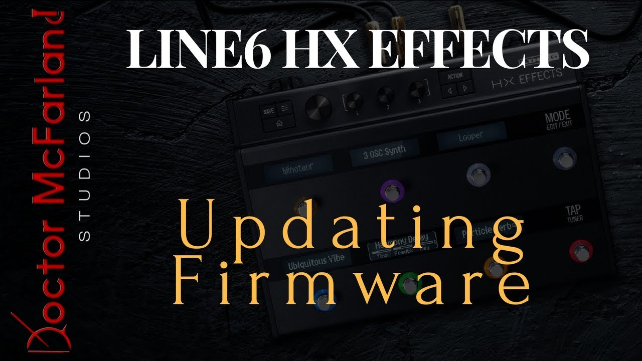 Updating the Line 6 HX Effects Firmware