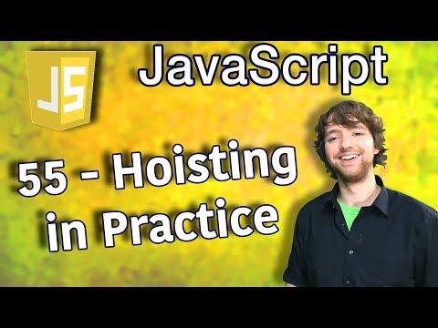JavaScript Programming Tutorial 55 - Hoisting in Practice thumbnail
