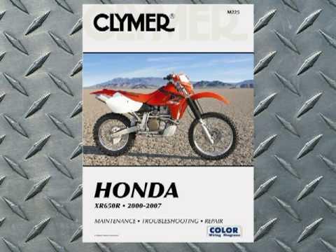 Clymer Manuals Honda XR650R XRR XR Manual Shop Service Repair Manual ...