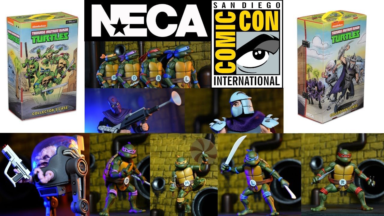 Neca Toys TMNT San Diego Comic Con 2017 Exclusive Revealed SDCC
