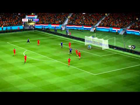 Arjen Robben   All 3 Goals In 2014 World Cup  Brazil (FIFA Remake)