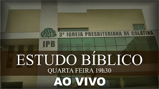 ESTUDO BÍBLICO - 21/10/2020