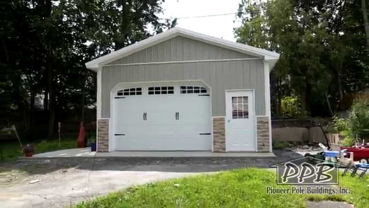 20x20 pole barn garage pictures to pin on pinterest for 24x16 shed