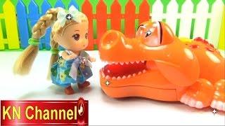 Đồ chơi trẻ em Búp bê baby Chibi Tập Đánh răng cá sấu Stop motion Kids toys