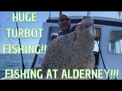 GIANT TURBOT CAUGHT FISHING AROUND ALDERNEY - TURBO WARS!!!