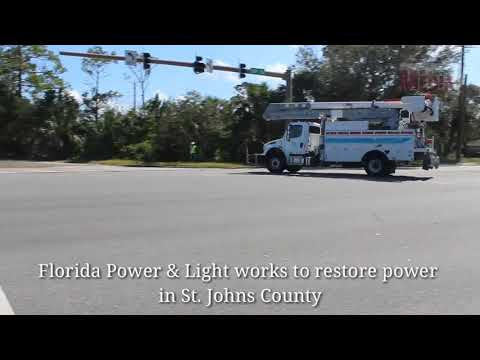 Florida Power & Light works to restore power in St. Johns County