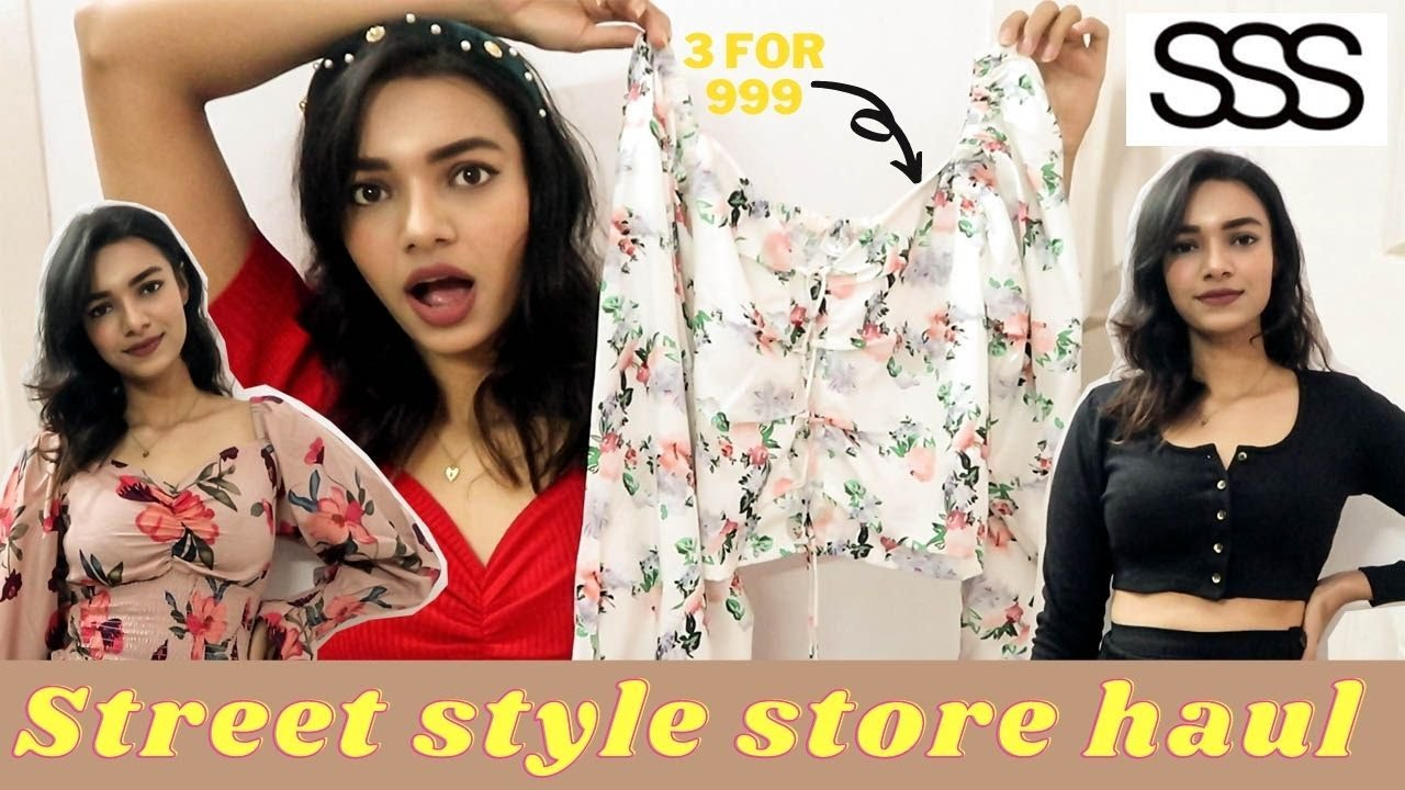STREET STYLE STORE HAUL   20 For 20 only   Tops under 2000 inr   Super  Budget Friendly Clothing
