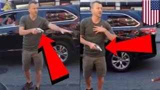 Off-duty cop pulls gun on bike messenger: NYPD sergeant draws weapon at cyclist - TomoNews