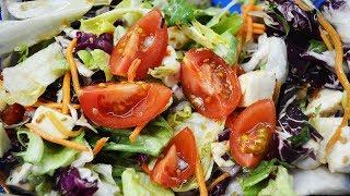 Вкусный салат с оригинальной заправкой
