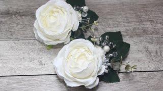 Купить заколка свадебная, цветы в волосы свадебная прическа, бутоньерка.