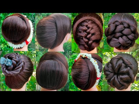 8 Beautiful Bun Hairstyle For Wedding And Party || Trending Hairstyle || Latest Juda Hairstyle ||