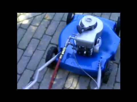 Compressed air push mower