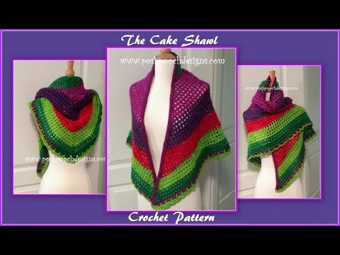 The Cake Shawl Crochet Pattern
