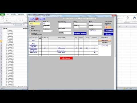 Das Genial Einfache Rechnungsprogramm Unter Excel
