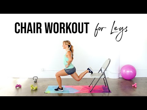 Chair Workout for Legs + Booty | Lower Body Chair Workout