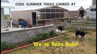 A few must have tools and my re built much bigger carport garage