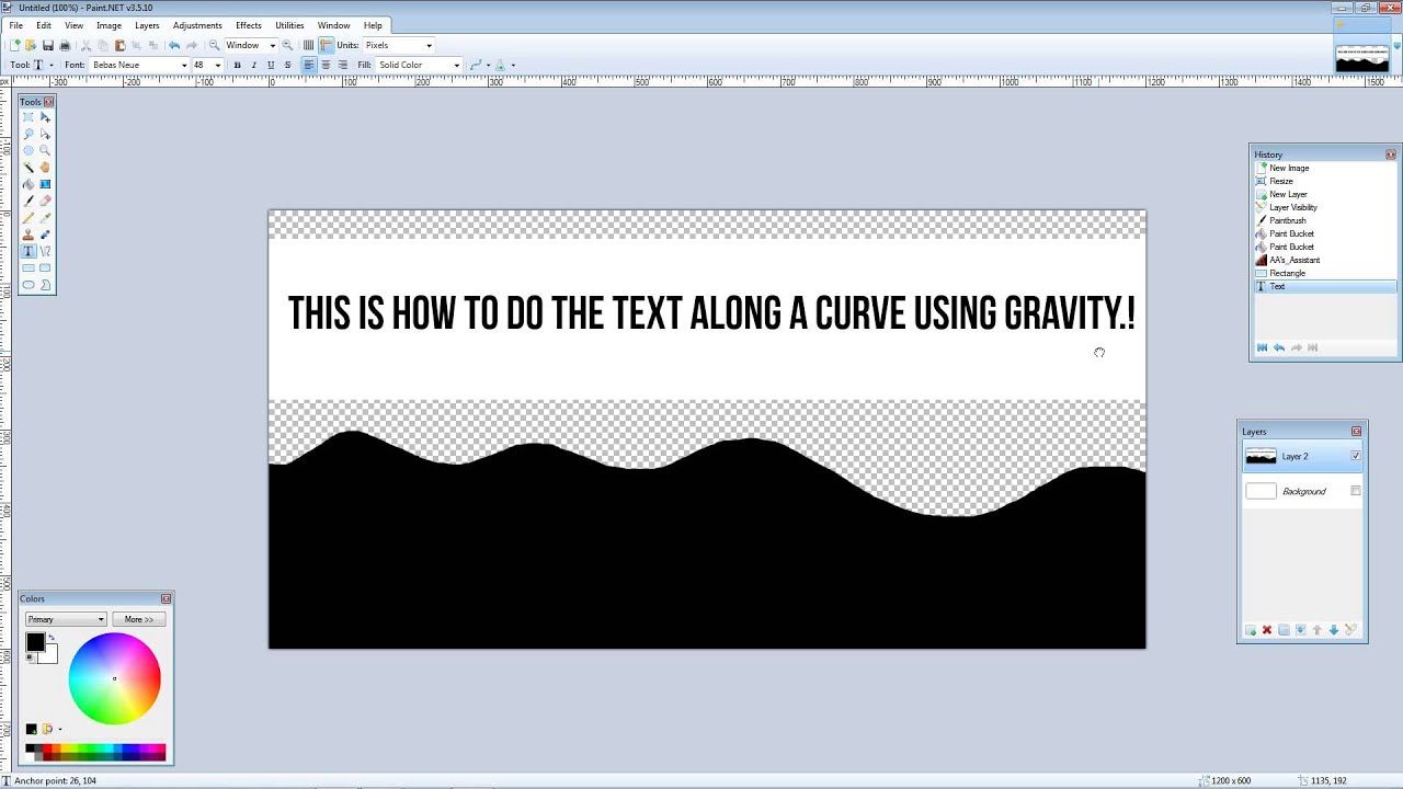 Paint Net How To Curve Text