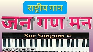 Jana Gana Mana on Harmonium for beginners II Sur Sangam Harmonium II How to Sing