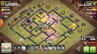 3 Star Th9 Mass Valkyrie With Queen Walk War Attack Strategy