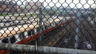 MBTA and Amtrak Trains at Back Bay Station