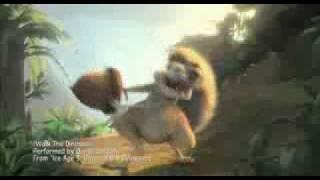 La era de Hielo 3 Clip musikal-'Walk the dinosaur'-baile del dinosaurio